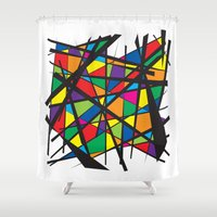 stained glass Shower Curtains featuring Stained Glass by preview