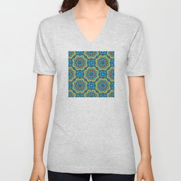 Ornate Festive Folklore Colorful Pattern Unisex V-Neck
