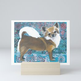 Chihuahua Dog Puppy Floral Tile Design Klimt-like Smallest Breed Mini Art Print