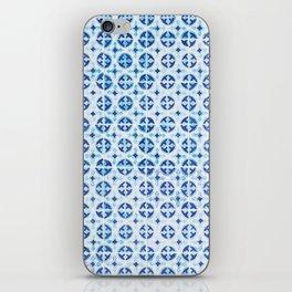 Blue Portuguese Tile Pattern iPhone Skin