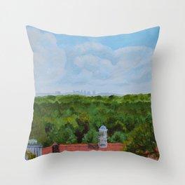 Nashville Skyline from Cheekwood Throw Pillow