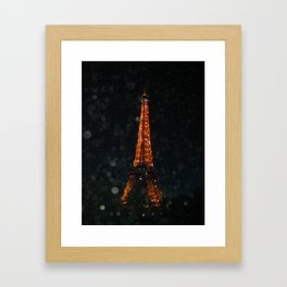 Night time Eiffel Tower Framed Art Print