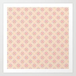 skin rose blue pattern Art Print