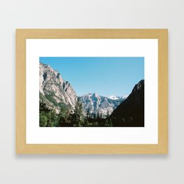 King's Canyon Framed Art Print