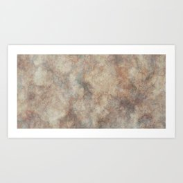 Abstract brown old paper Art Print