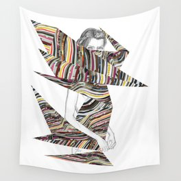 Origami Girl Wall Tapestry