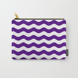 WAVES (INDIGO & WHITE) Carry-All Pouch