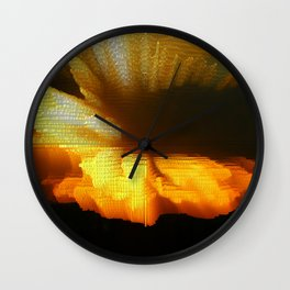 Sunset Abstract Wall Clock
