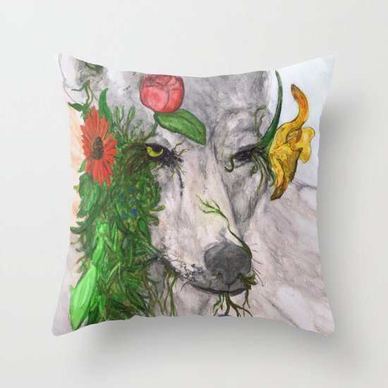 """Wolf's Law"" by Cap Blackard Throw Pillow"