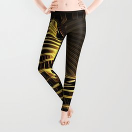2329-JPC Abstract Striped Nude Powerful Woman Creator Goddess Radiating Golden Feminine Leggings