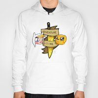 finn and jake Hoodies featuring Finn and Jake by Nate Galbraith