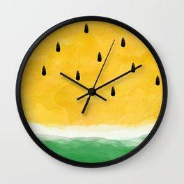 Yellow Watermelon Abstract Wall Clock