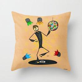 Dancer in disco Throw Pillow