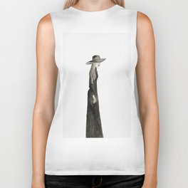 """Southern Gothic Witch Coven Watercolor; """"Aura"""" Biker Tank"""