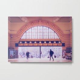 Flinders Street Station Entry Fine Art Print Metal Print