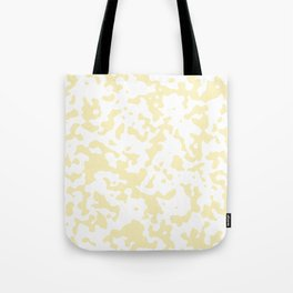 Spots - White and Blond Yellow Tote Bag