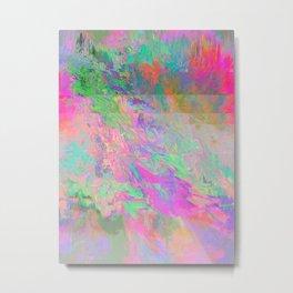 #8304 (pink green rainbow glitch) Metal Print