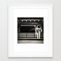 astronaut Framed Art Prints featuring Astronaut by eARTh