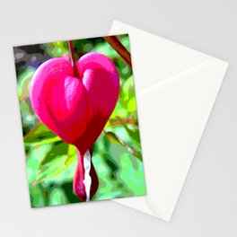 Crying heart Stationery Cards