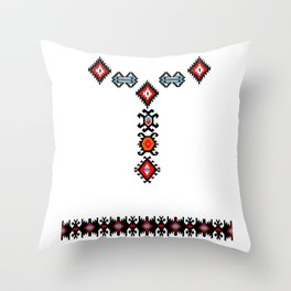 flowers in the snow Throw Pillow