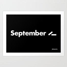 September 11 (2001) - Black Art Print