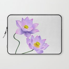 Thamarai, Yellow Flower, Floral Pattern, Yellow Blossom Laptop Sleeve