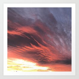 That Once in a Lifetime Sunset Art Print