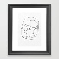 One line Lara Croft 1996 Framed Art Print