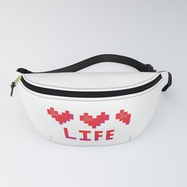 Cute 8 bit heart canister vector illustration. Fanny Pack