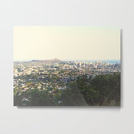 Tantulus Honolulu Diamond Head View Metal Print