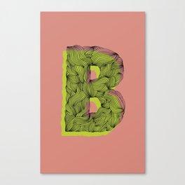 """""""B"""" Doodle Canvas Print"""