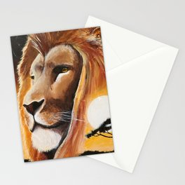 Animal - Lion - Quiet strength - by LiliFlore Stationery Cards