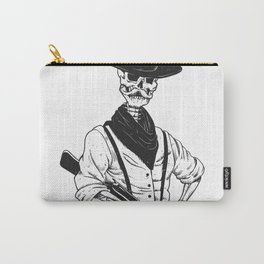 Sheriff with mustache and rifle Carry-All Pouch