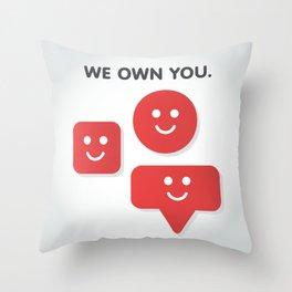 Phone Notifications Throw Pillow