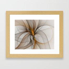 Elegant Chaos, Abstract Fractal Art Framed Art Print