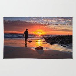 Evening Sunset Surfing Rug