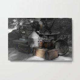 flea market Lisbon Metal Print