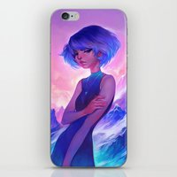 loish iPhone & iPod Skins featuring frost by loish