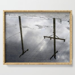 Reflections on Perpendicular Lines Serving Tray