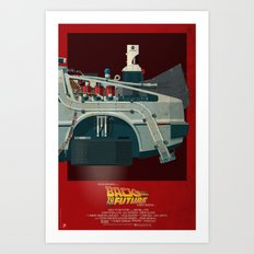 DeLorean Time Machine, Back to the Future Version 3 III/III Art Print