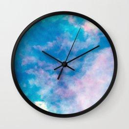 summer storm  |  sky dye series Wall Clock
