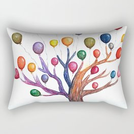 Balloon Tree Watercolor Rectangular Pillow