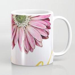pink gerbera daisy with ribbon Coffee Mug