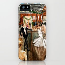 Britt & Jamie's Wedding Painting iPhone Case