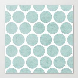 robins egg blue polka dots Canvas Print
