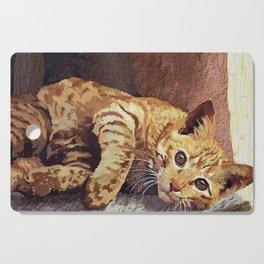 Morning cat Cutting Board