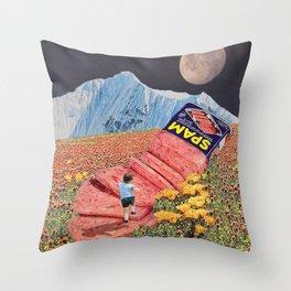 Spam Mountain Throw Pillow