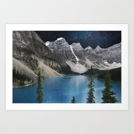 Midnight Moraine Art Print