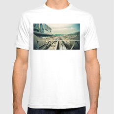 Train station Mens Fitted Tee MEDIUM White