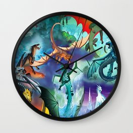 Wings-Of-Fire all dragon Wall Clock